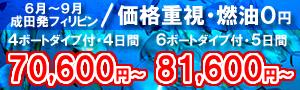 ダイビングショップ併設ホテル泊でダイビング三昧!マクタン島&ヒルトゥガン島ボートダイブ付ツアー 70,600円~!