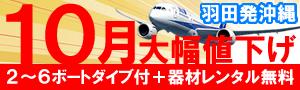 ★10月値下げ★東京発沖縄ダイビングツアー