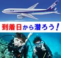 到着日から2ダイブ!<br>沖縄ダイビングツアー<br>器材レンタル付・那覇泊